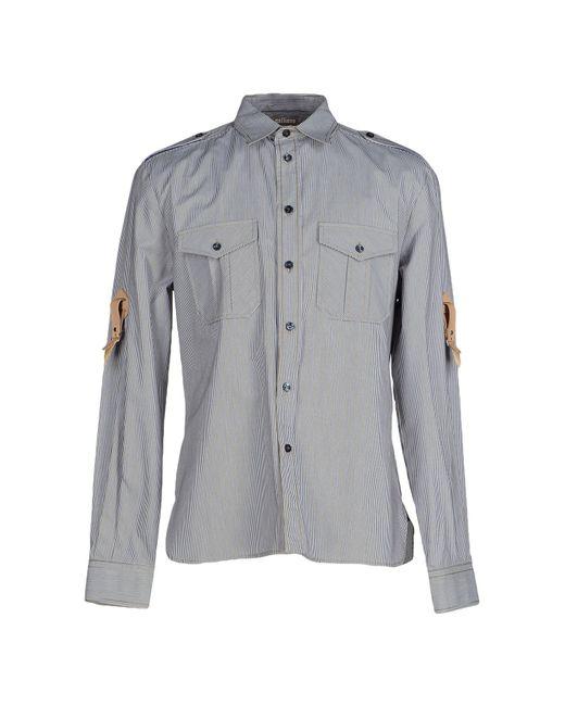 John Galliano   Gray Shirt for Men   Lyst