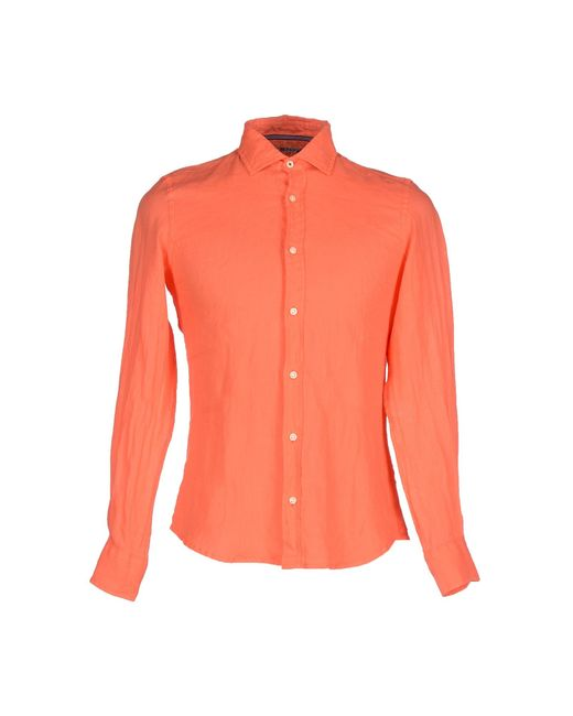 AT.P.CO | Orange Shirt for Men | Lyst
