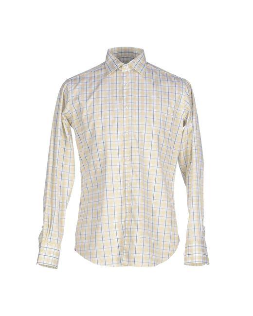 Fabio Inghirami | Yellow Shirt for Men | Lyst