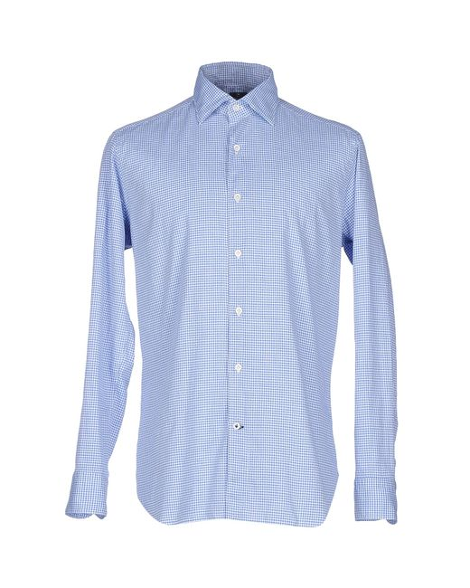 Truzzi | Blue Shirt for Men | Lyst