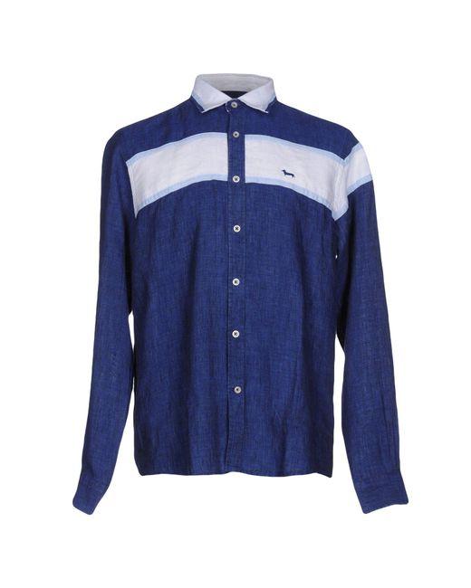 Harmont & Blaine | Blue Shirt for Men | Lyst
