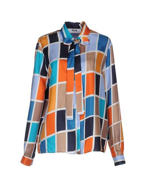 MSGM | Orange Shirt | Lyst