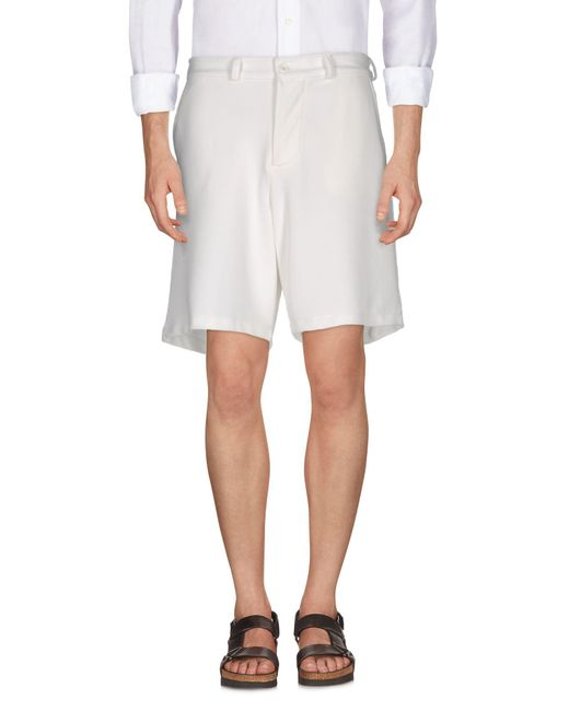 MNML Couture - White Bermuda Shorts for Men - Lyst