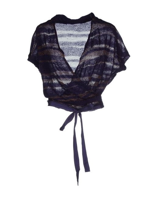 GAUDI   Purple Wrap Cardigans   Lyst
