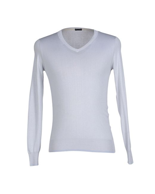 Paolo Pecora   Gray Jumper for Men   Lyst