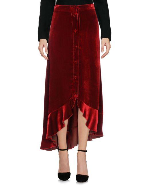 Raquel Diniz - Red Knee Length Skirt - Lyst