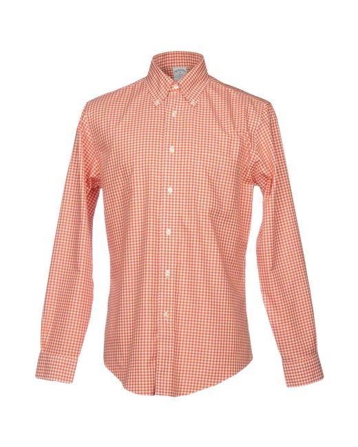 Brooks Brothers - Orange Shirt for Men - Lyst