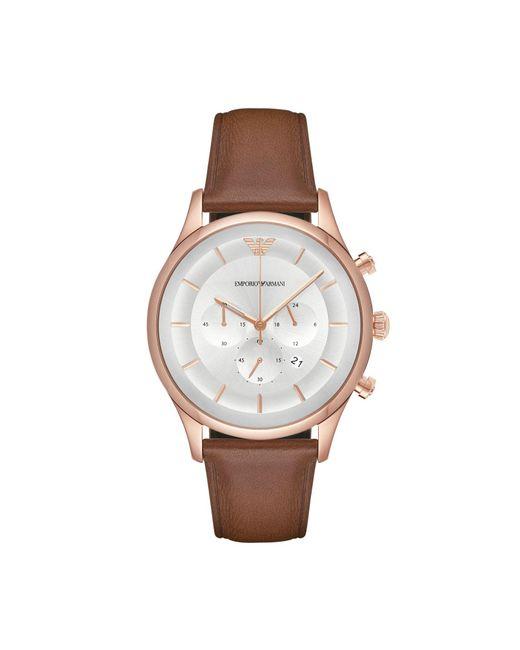 Emporio Armani - Brown Wrist Watch - Lyst