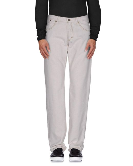 Ferrè Milano - Natural Denim Trousers for Men - Lyst