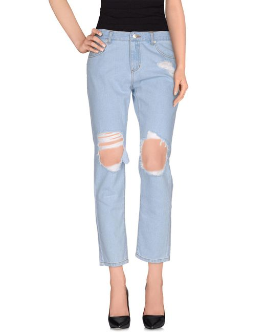 SJYP | Blue Denim Trousers | Lyst