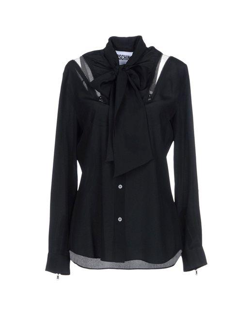Boutique Moschino - Black Shirt - Lyst