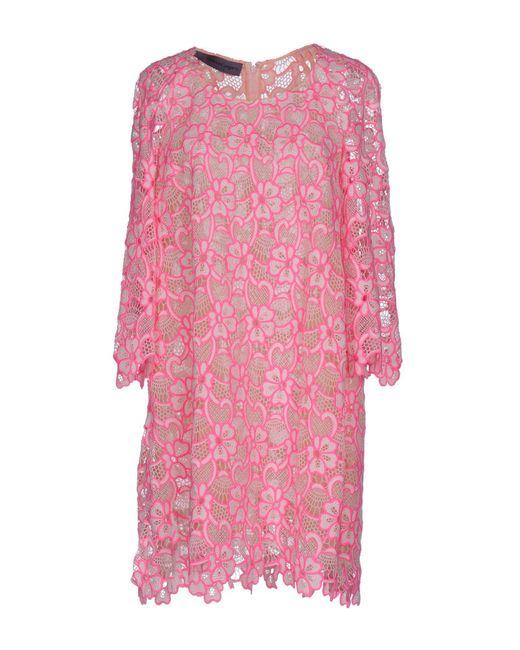 Emanuel Ungaro - Pink Short Dress - Lyst