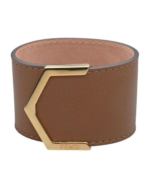 Fendi - Brown Bracelet - Lyst