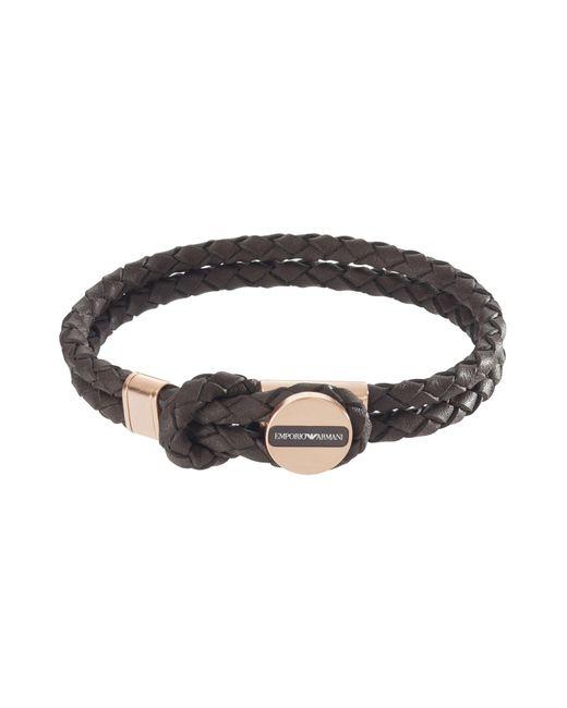 Emporio Armani - Brown Bracelets for Men - Lyst