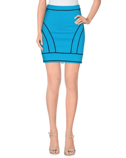 DSquared² - Blue Mini Skirt - Lyst