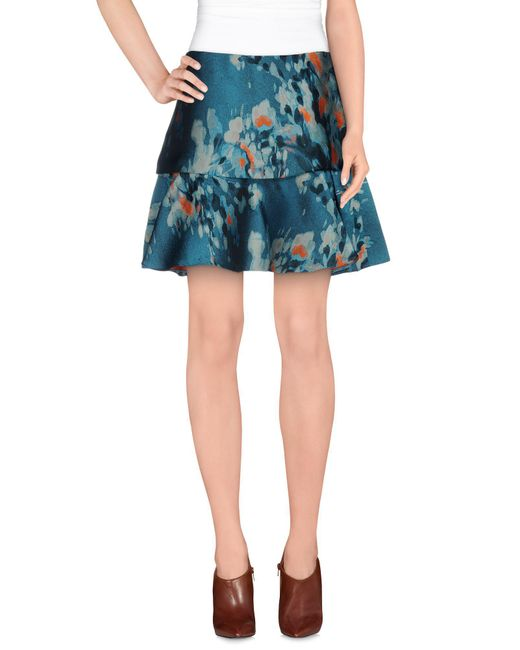 Philosophy di Alberta Ferretti - Blue Knee Length Skirt - Lyst