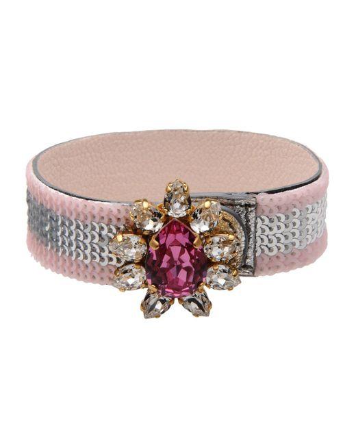 Shourouk - Pink Bracelet - Lyst