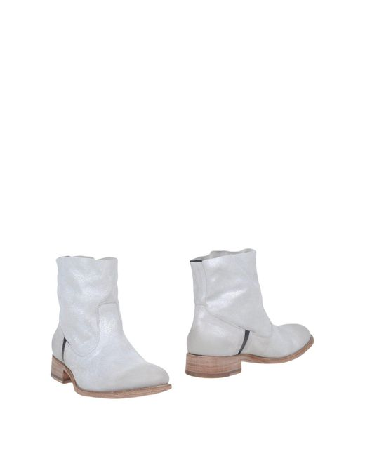 N.d.c. Made By Hand - Gray Ankle Boots - Lyst