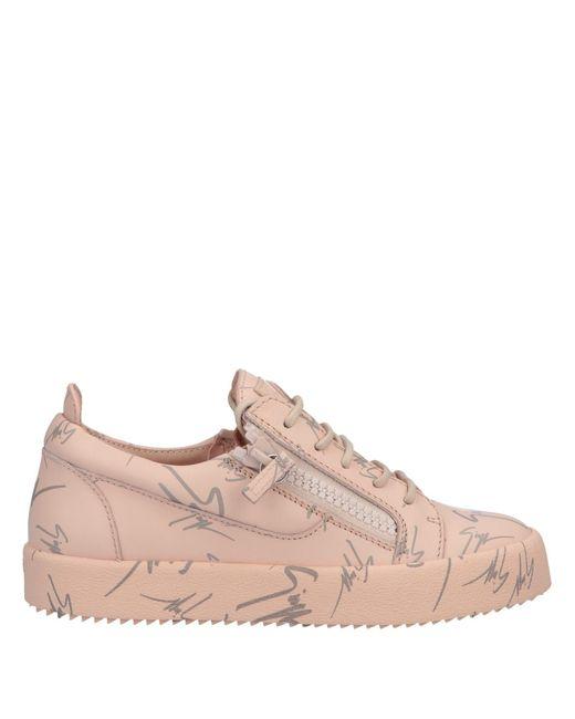 Giuseppe Zanotti Pink Low Sneakers & Tennisschuhe