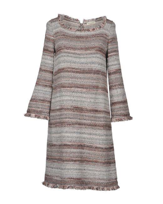 Short Manetti Dress Lyst In Gray Bruno 0wvnqEO