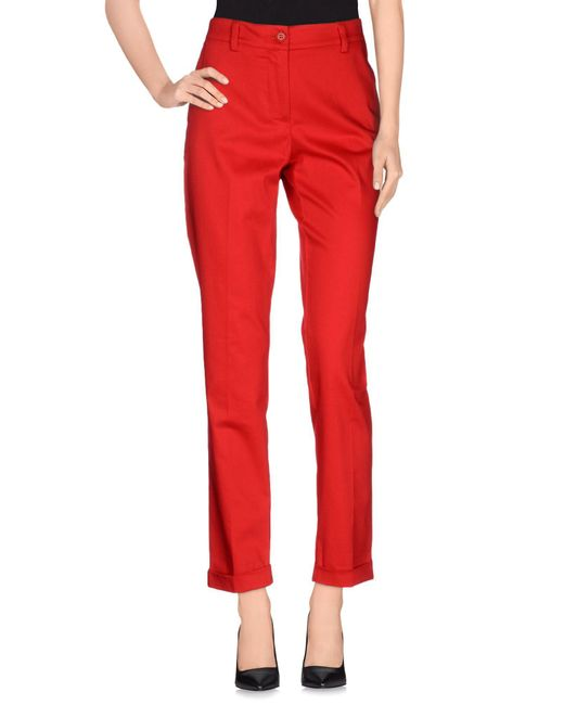 P.A.R.O.S.H. - Red Casual Pants - Lyst