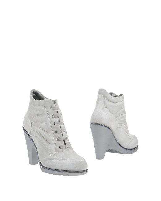 Hogan by Karl Lagerfeld | Gray Ankle Boots | Lyst