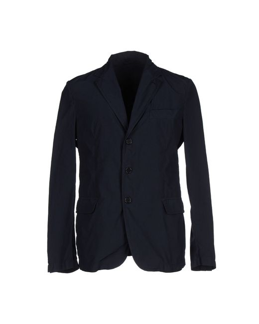 Aspesi | Blue Overcoat for Men | Lyst