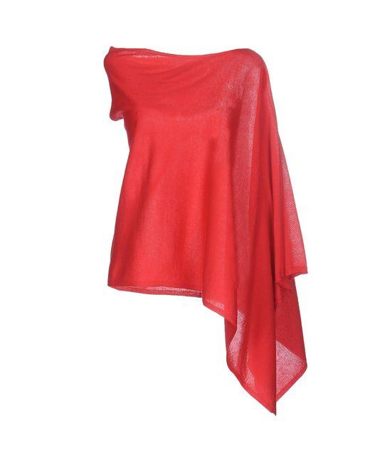 dorothee schumacher cape in red lyst. Black Bedroom Furniture Sets. Home Design Ideas