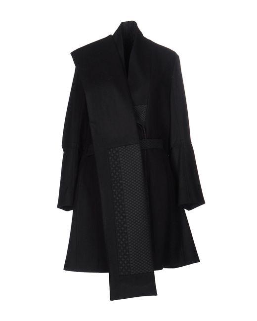Ann Demeulemeester | Black Coat | Lyst