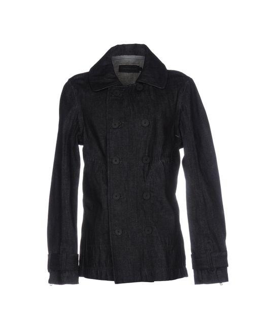 Calvin Klein Jeans | Blue Overcoat for Men | Lyst