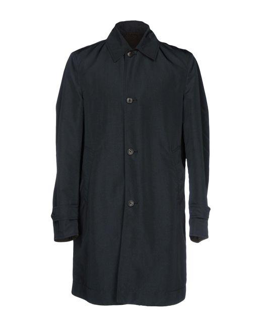 Boglioli   Gray Overcoat for Men   Lyst