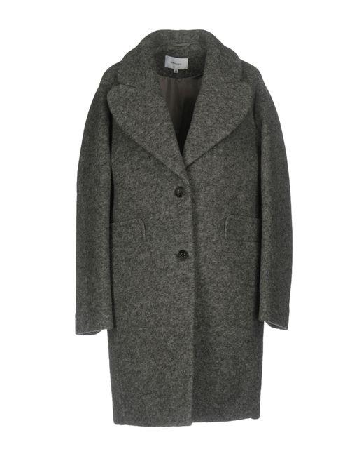 Carven | Gray Coat | Lyst