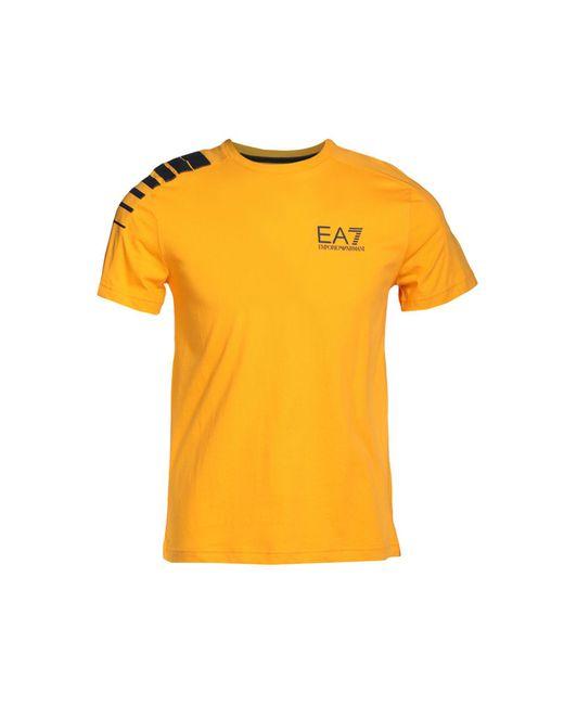 EA7 - Yellow T-shirt for Men - Lyst