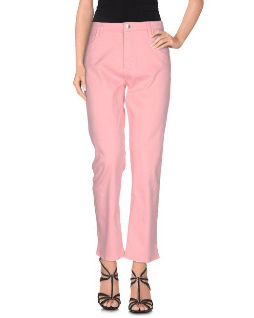Love Moschino - Pink Denim Pants - Lyst