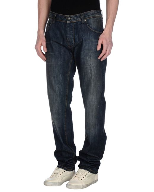GAUDI | Blue Denim Pants for Men | Lyst