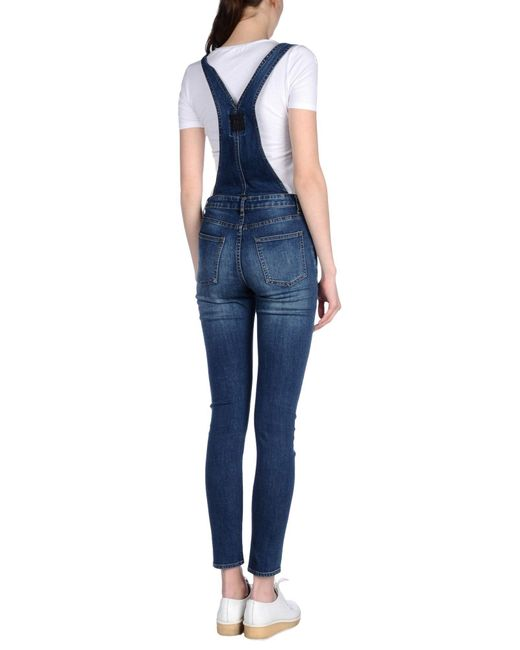Cheap monday Overalls in Blue | Lyst
