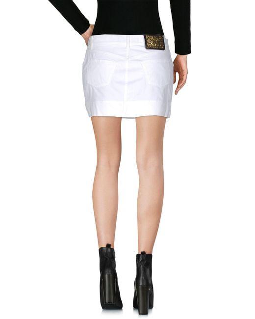 Just cavalli Mini Skirt in White