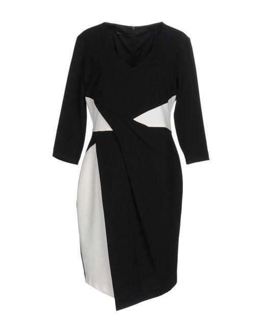 Hanita - Black Short Dress - Lyst