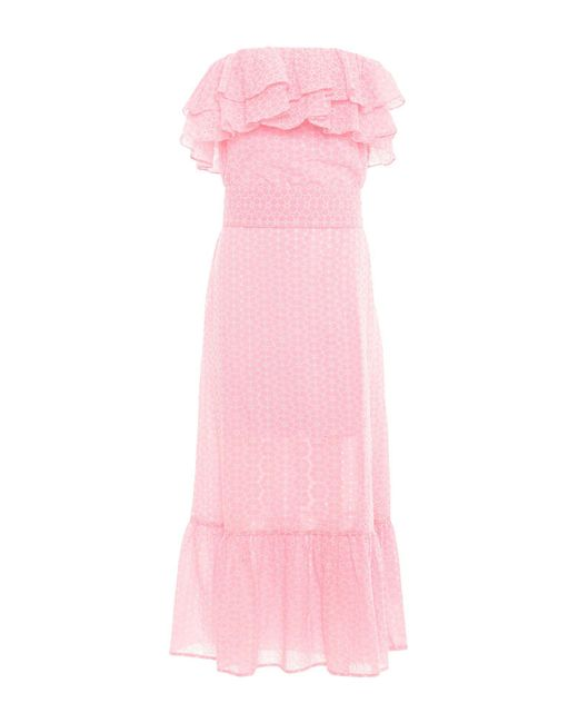 Lisa Marie Fernandez - Pink Vestido por la rodilla - Lyst
