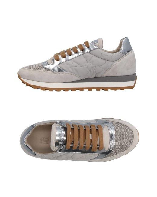 Brunello Cucinelli | Gray Low-tops & Sneakers | Lyst