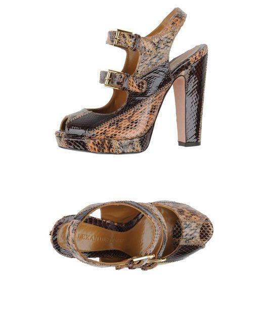Alexander McQueen - Natural Sandals - Lyst