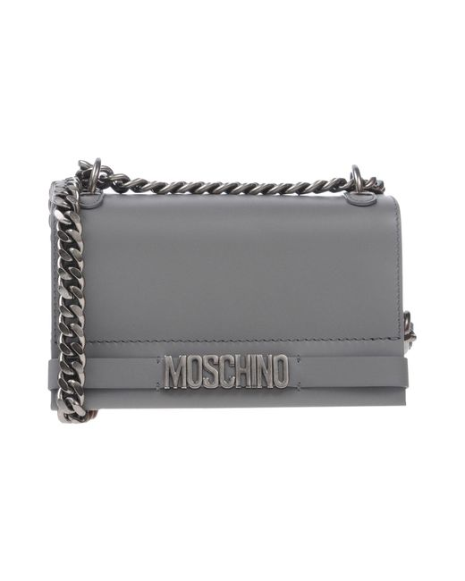 Moschino - Gray Cross-body Bags - Lyst