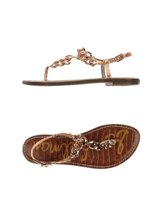 Sam Edelman | Metallic Toe Strap Sandal | Lyst