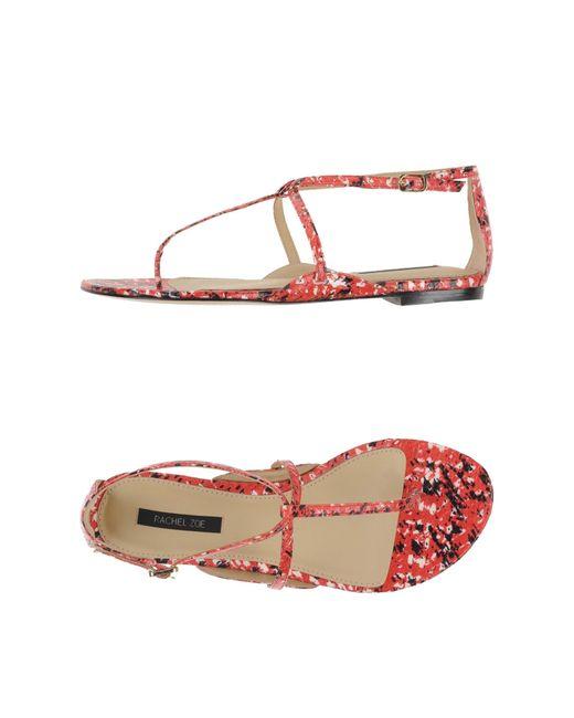 Rachel Zoe   Red Toe Strap Sandal   Lyst