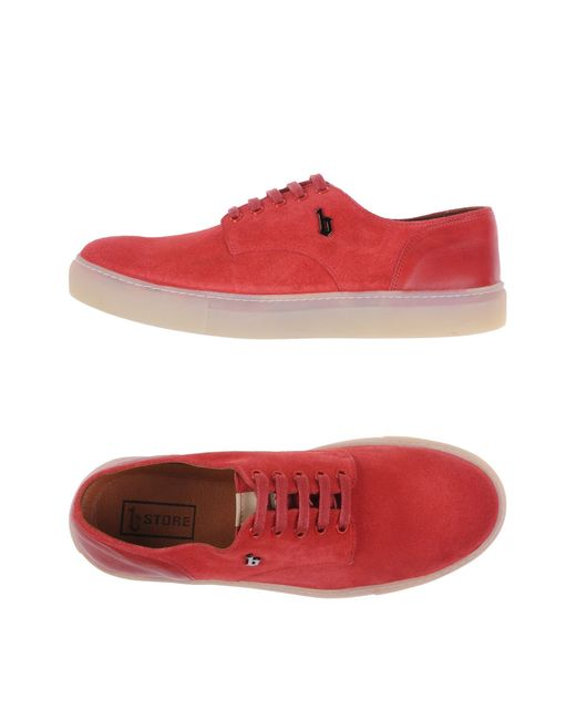 B Store   Red Low-tops & Sneakers for Men   Lyst
