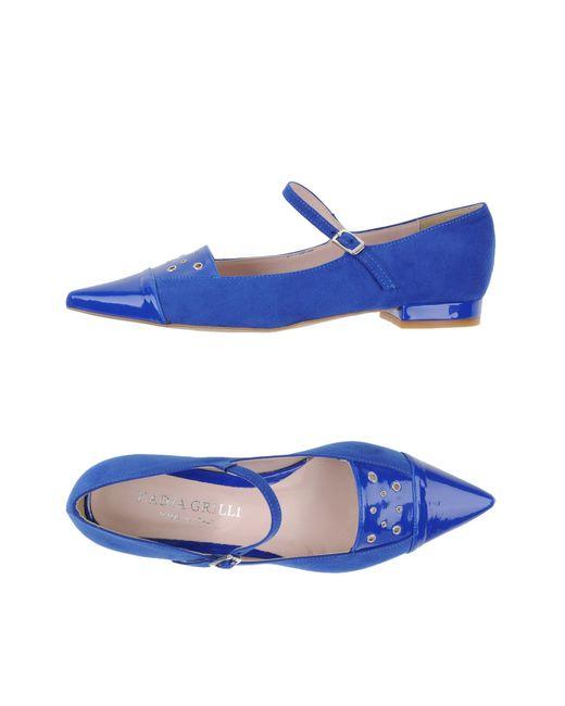 Nadia Grilli | Blue Ballet Flats | Lyst