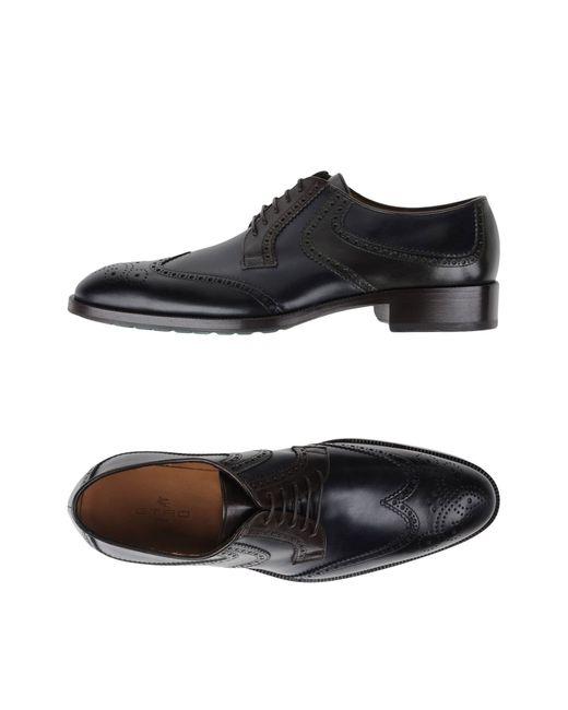 Etro | Black Lace-up Shoes for Men | Lyst