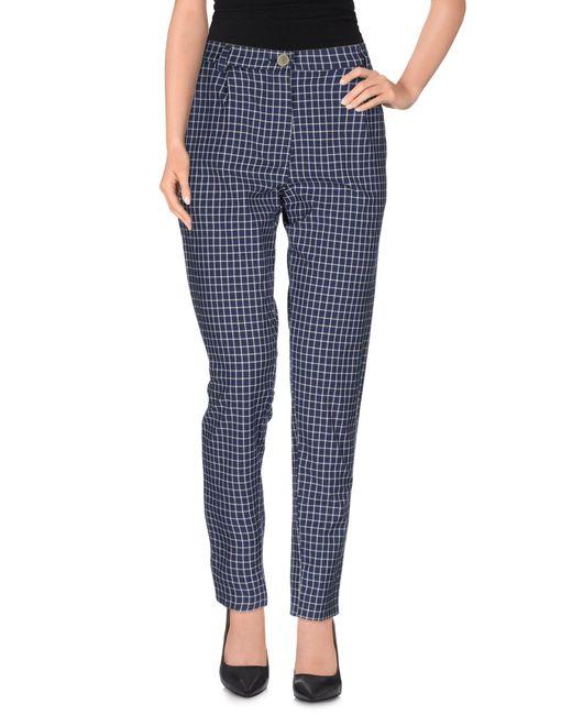 Erika Cavallini Semi Couture - Blue Casual Pants - Lyst
