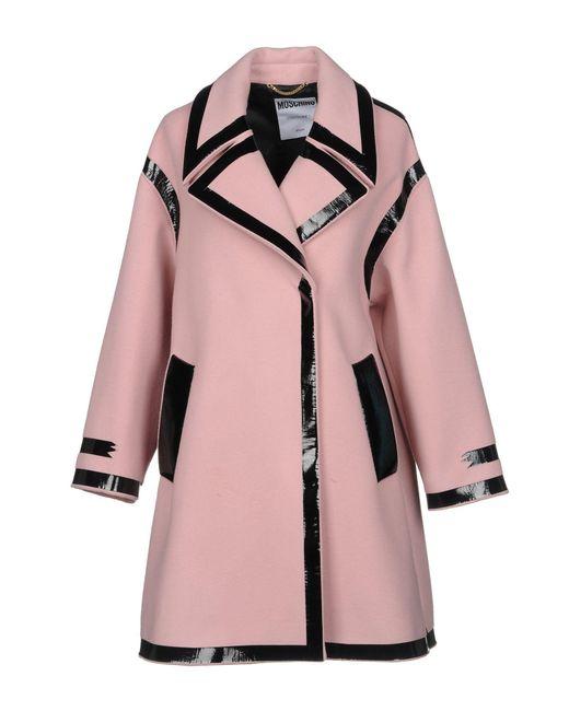 Moschino - Pink Coat - Lyst