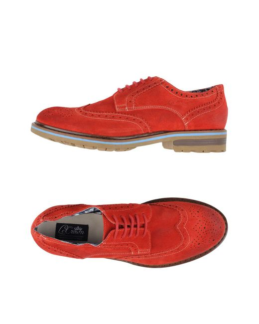 Lecrown - Red Lace-up Shoe for Men - Lyst